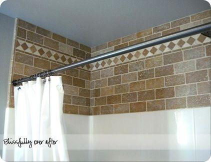 Decorative Tile Above Plain Tile Or Vinyl Shower Surround