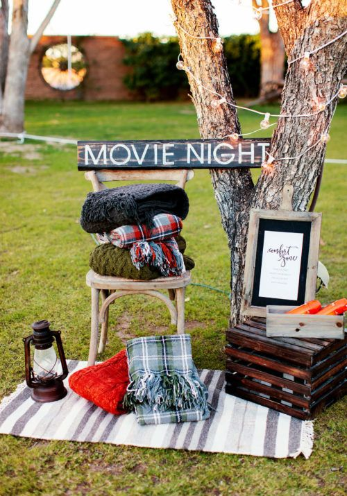 Backyard Movie Ideas #thegreatoutdoors