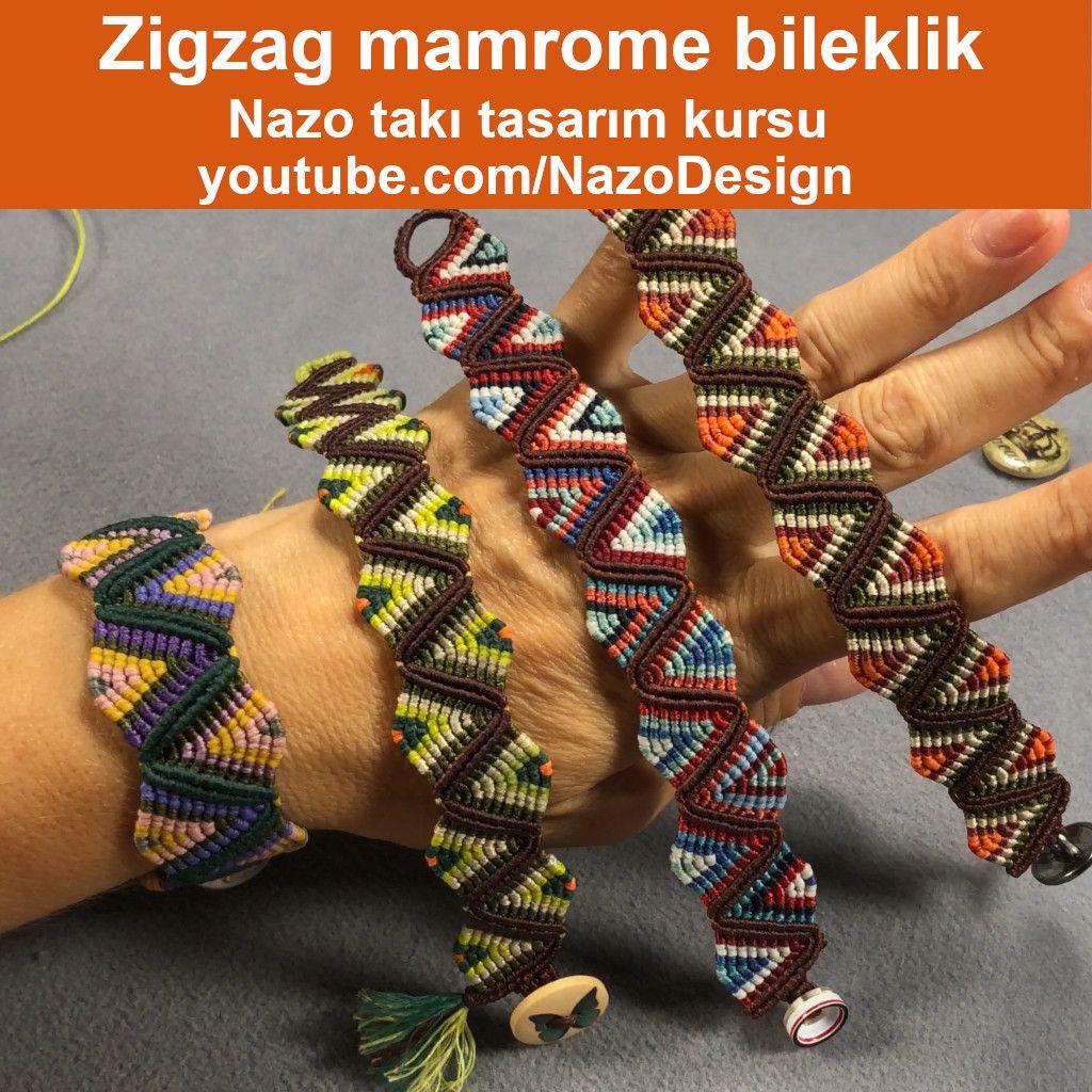 Comment faire un bracelet aztèque en macramé zig zag?   – Nazo Jewelry Design Course