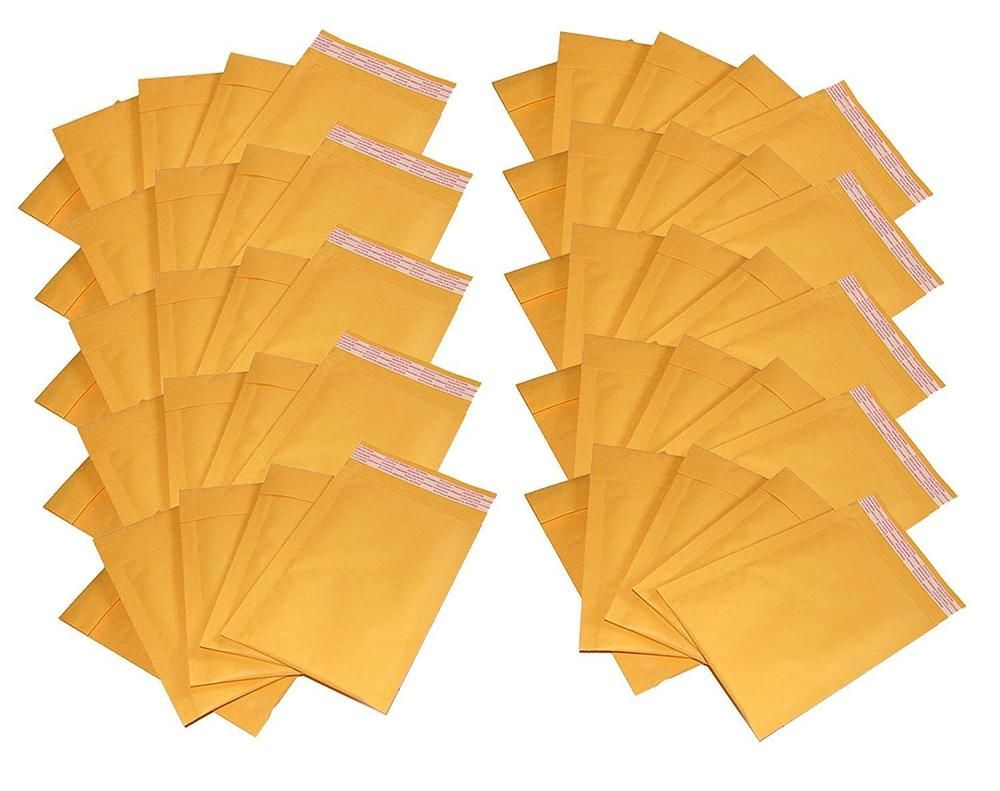 """4/"""" x 7/"""" #000 Kraft Bubble Mailers Self Seal Padded Shipping Envelopes 50 Pack"""