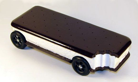 ice cream sandwich pinewood derby car - Pinewood Derby Car Design Ideas