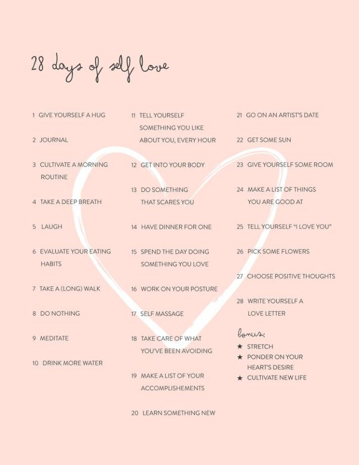 28 Days of Self Love: The Challenge