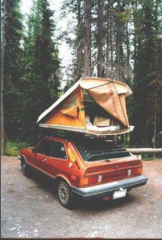 Homemade Roof Rack Tent