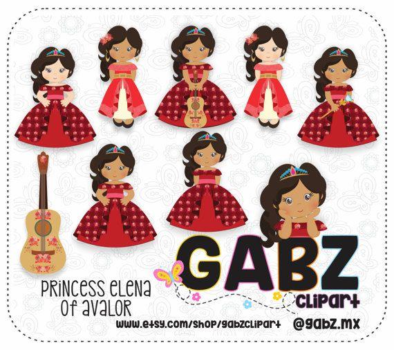 Princess Princess Elena Birthday Princess Elena of Avalor Digital Paper Gabz Girls
