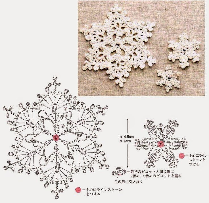 Crochet a few pretty little snowflakes for Christmas this year! More ...