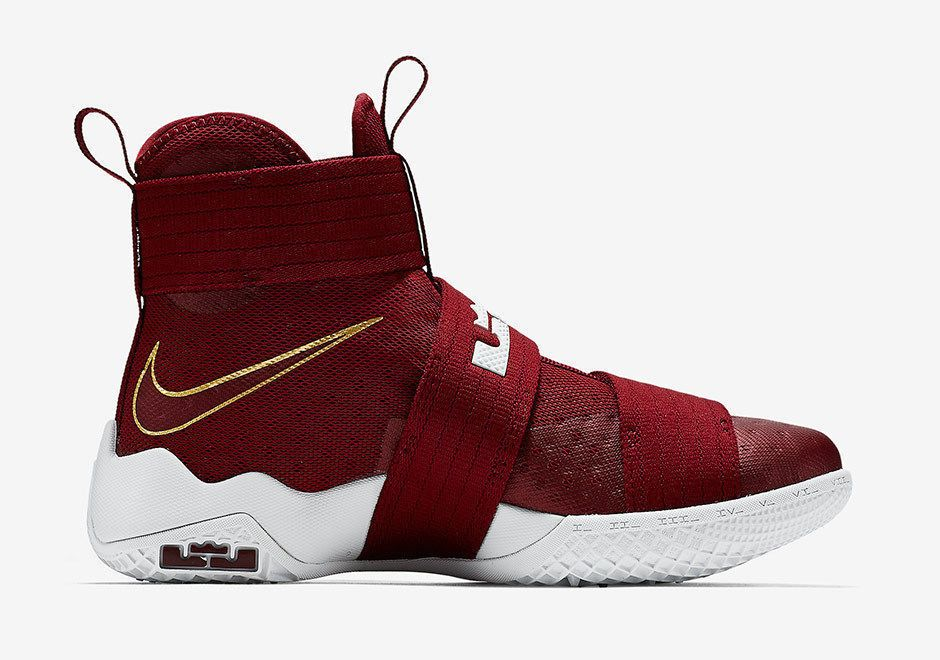 d97251d2e4714 Nike Lebron Soldier 10 X Men s Basketball Sneakers Lifestyle mAROON gOLD  Size 11  Nike  BasketballShoes