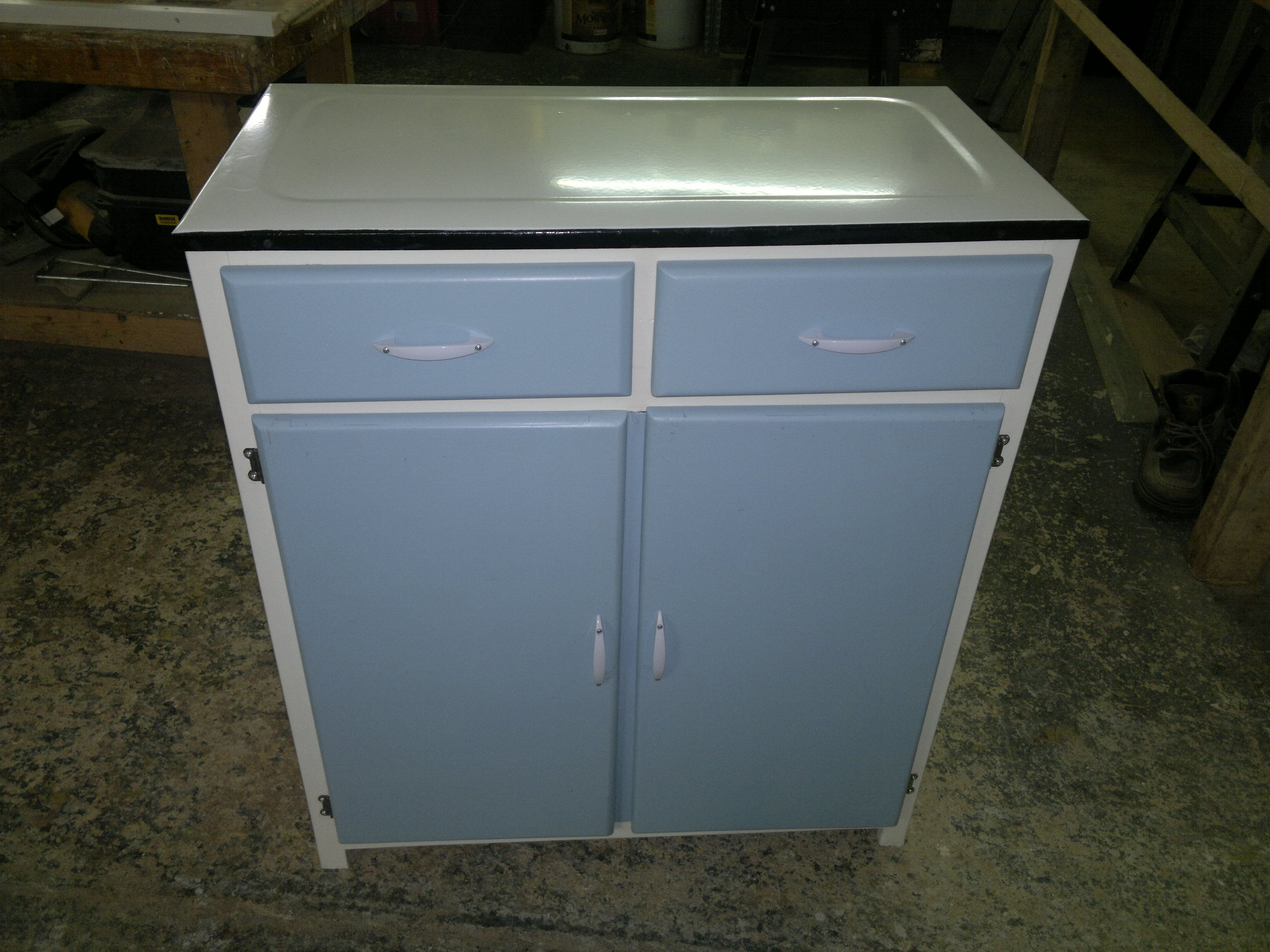 Best Vintage Retro Kitchen Larder Base Unit Fully Refurbished 640 x 480