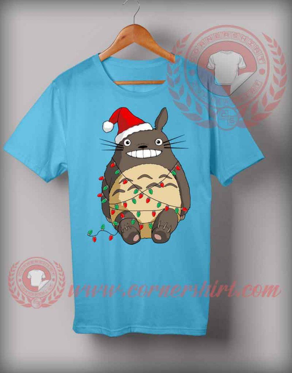 Fotos Cena Navidad Frinsa.Santa Totoro T Shirt Funny Christmas Gifts For Friends