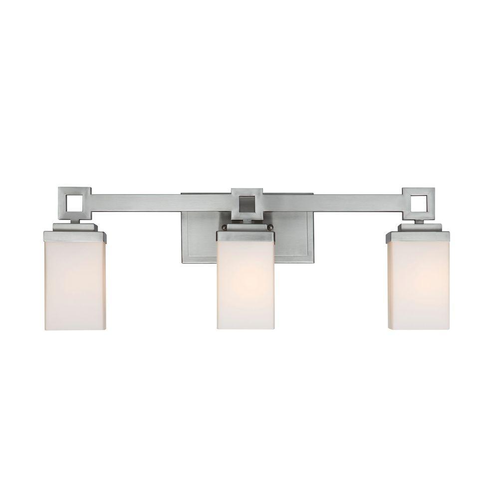 Golden Lighting Nelio Collection 3-Light Pewter Bath Vanity Light ...