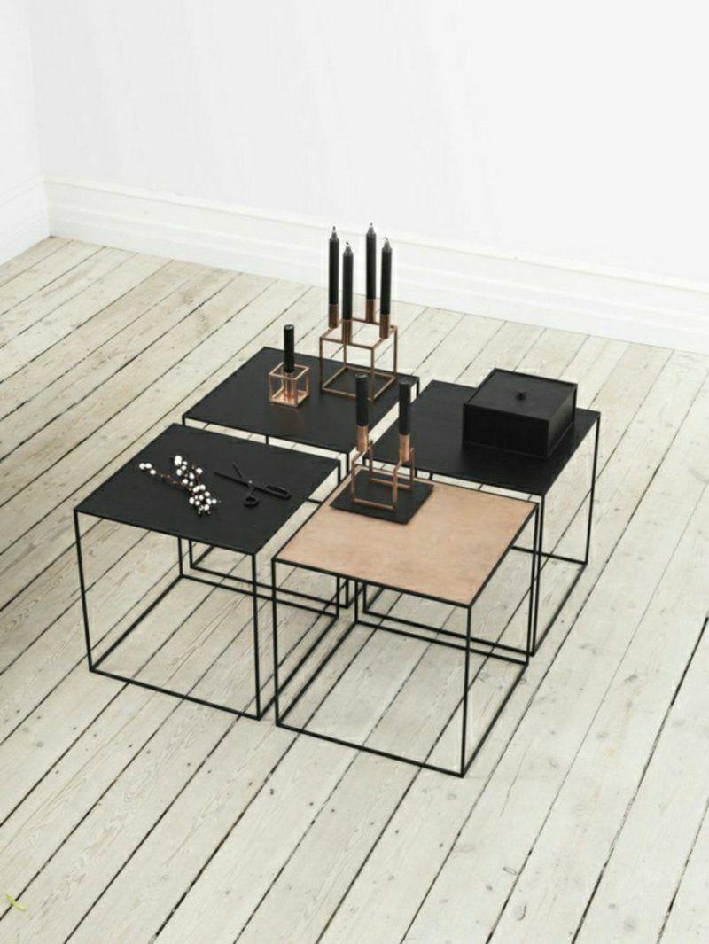Skandinavische Möbel Mit Elegantem Schlichten Design Couchtische Und  Kerzenständer