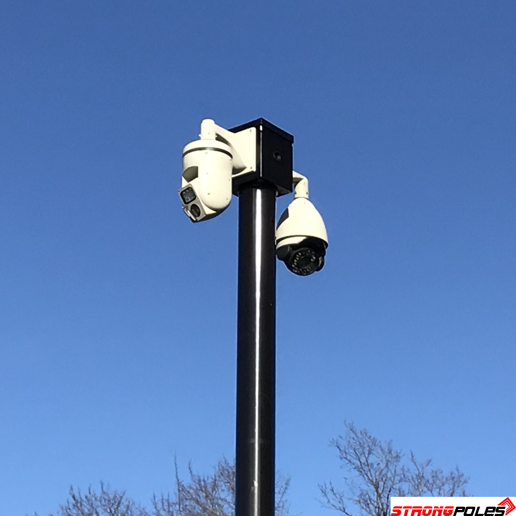 8 X 10 Mounting Platform Birdhouse Strong Poles Security Camera Installation Ptz Camera Security Camera