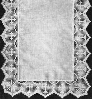 Repeating crosses religious edging vintage filet crochet pattern for repeating crosses religious edging vintage filet crochet pattern for download dt1010fo