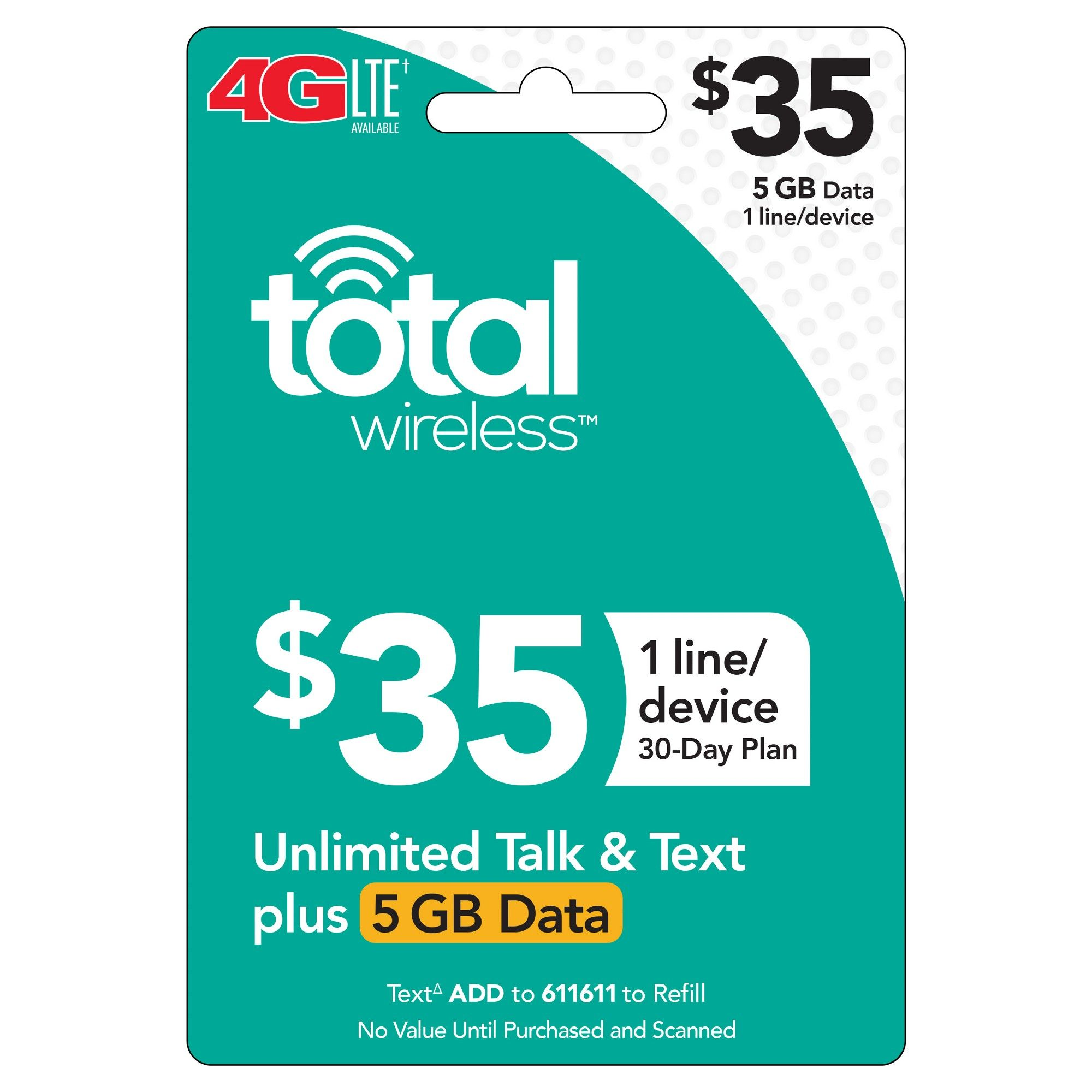 Total Wireless 35 Individual 30Day Plan (Email Delivery