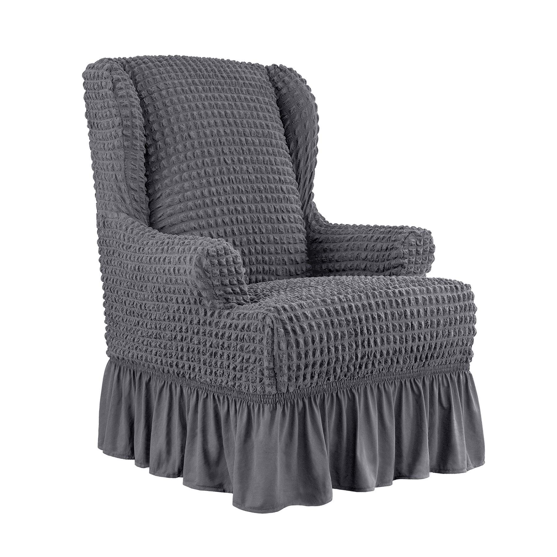 Chun yi 1piece universal easy fitted wingback chair cover