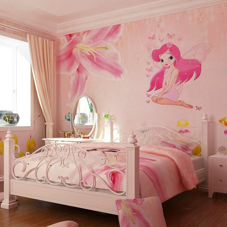Cheap Wall Sticker Buy Quality Girl Directly From China Decorative Stickers Suppliers Hot Sale Fairy Princess Butterly Decals Art Mural