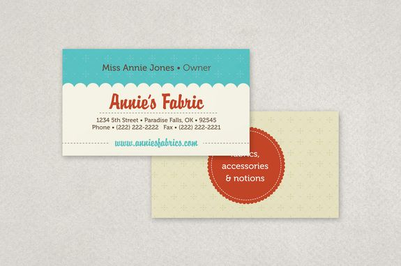 Fabric shop business card template a fabric or craft store can fully editable fabric shop business card template complete with photos and graphics reheart Image collections