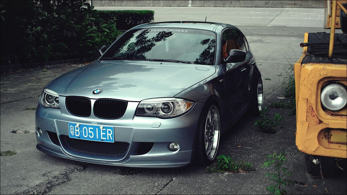 Stanced E87 (1 series hatchback) Bmw 1 series, Hatchback