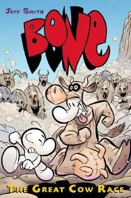 Phoney Bone rigs the Spring Fair's annual Great Cow Race by putting Smiley in a bovine disguise and convincing everyone to bet their livestock on the Mystery Cow, and Fone Bone finds himself in a one-cousin battle with the rat creatures.  741.5 SMI