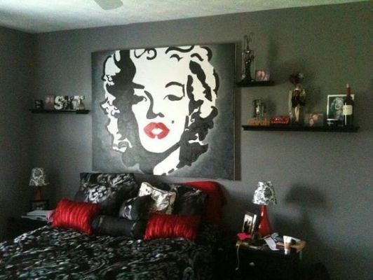 Marilyn Monroe Bedroom Theme Black