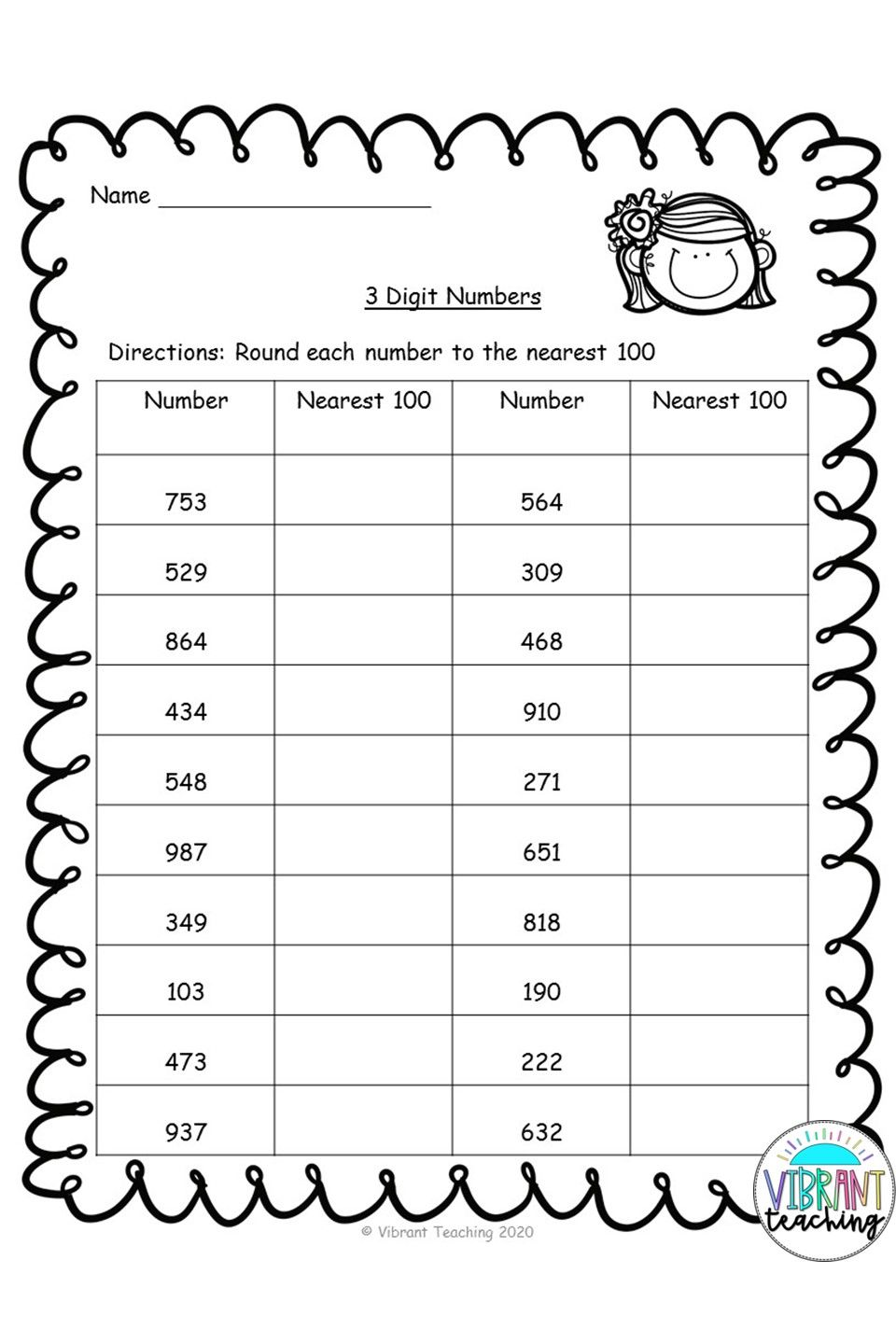 small resolution of Rounding Worksheets: Nearest 100   Rounding worksheets