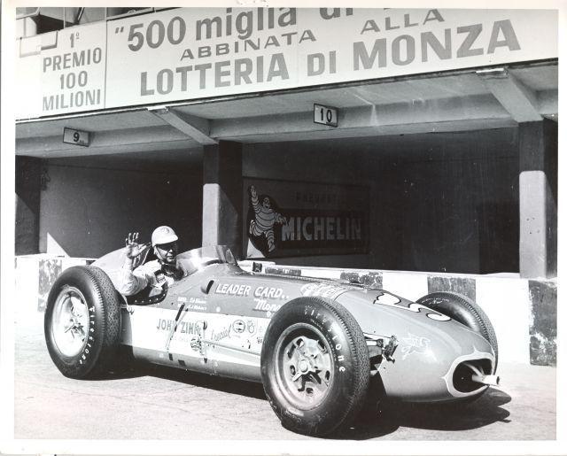 Jim Rathmann 1958 Jim Rathmann Winner of Race Of Two Worlds at high banked