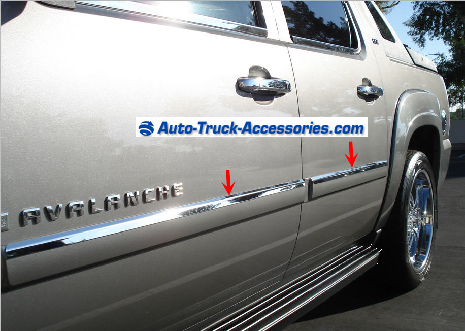 1 Inch Chrome Stainless Steel Accent Bezel For Body Side Molding. 4 Piece  Set.A Very Tasteful Narrow Strip Of Chrome Which Mounts Along The Top  Border Of ...