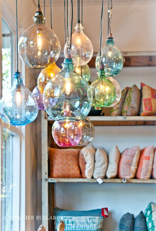 Loving These Pendant Lights Blown Glass Pendant Light Hanging Lights Kitchen Blown Glass Pendant