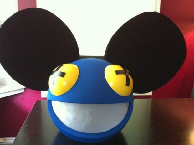 diy deadmau5 helmet d - Deadmau5 Halloween Head