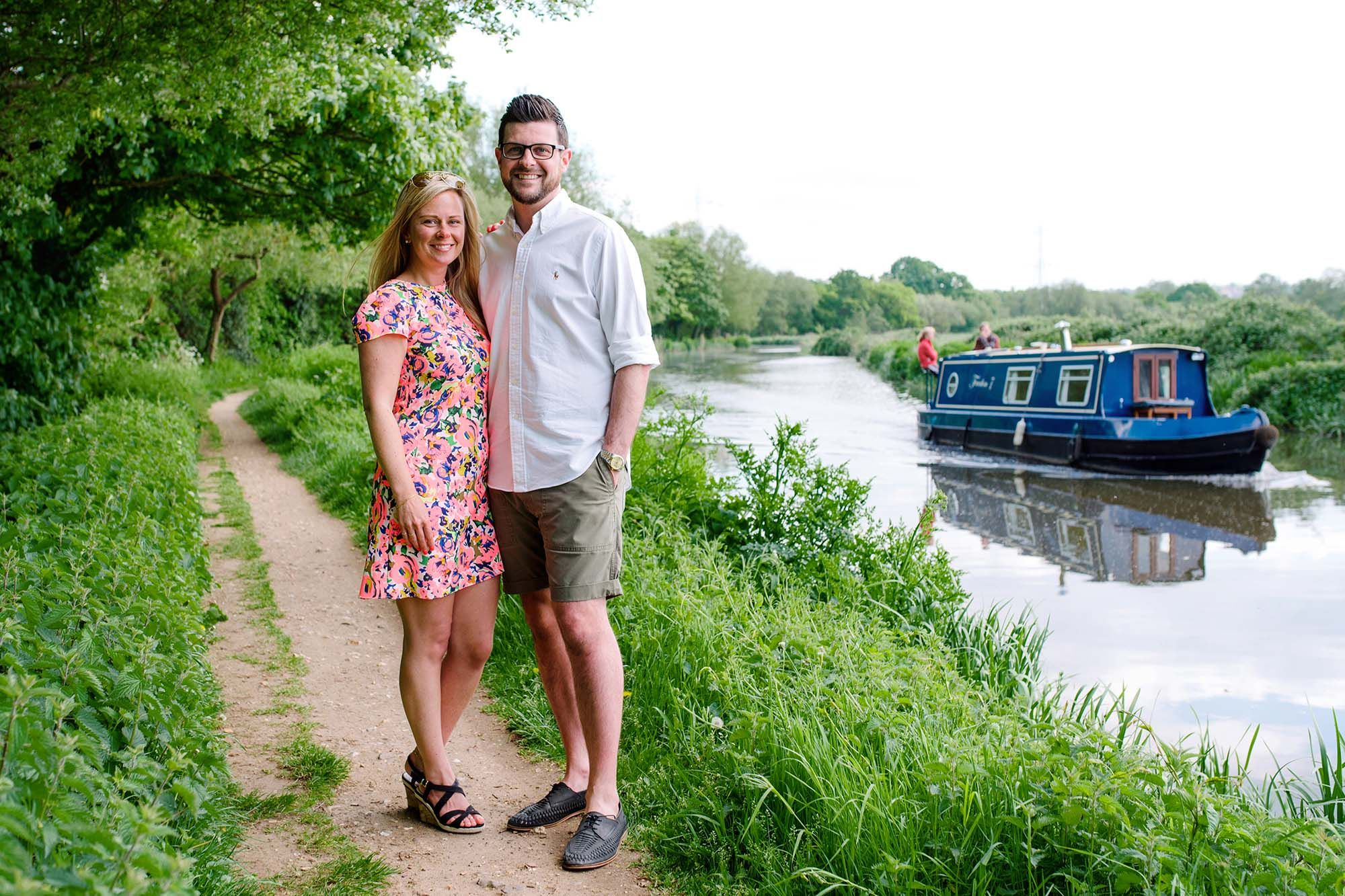 Riverside Engagement Shoot in Guildford, Surrey
