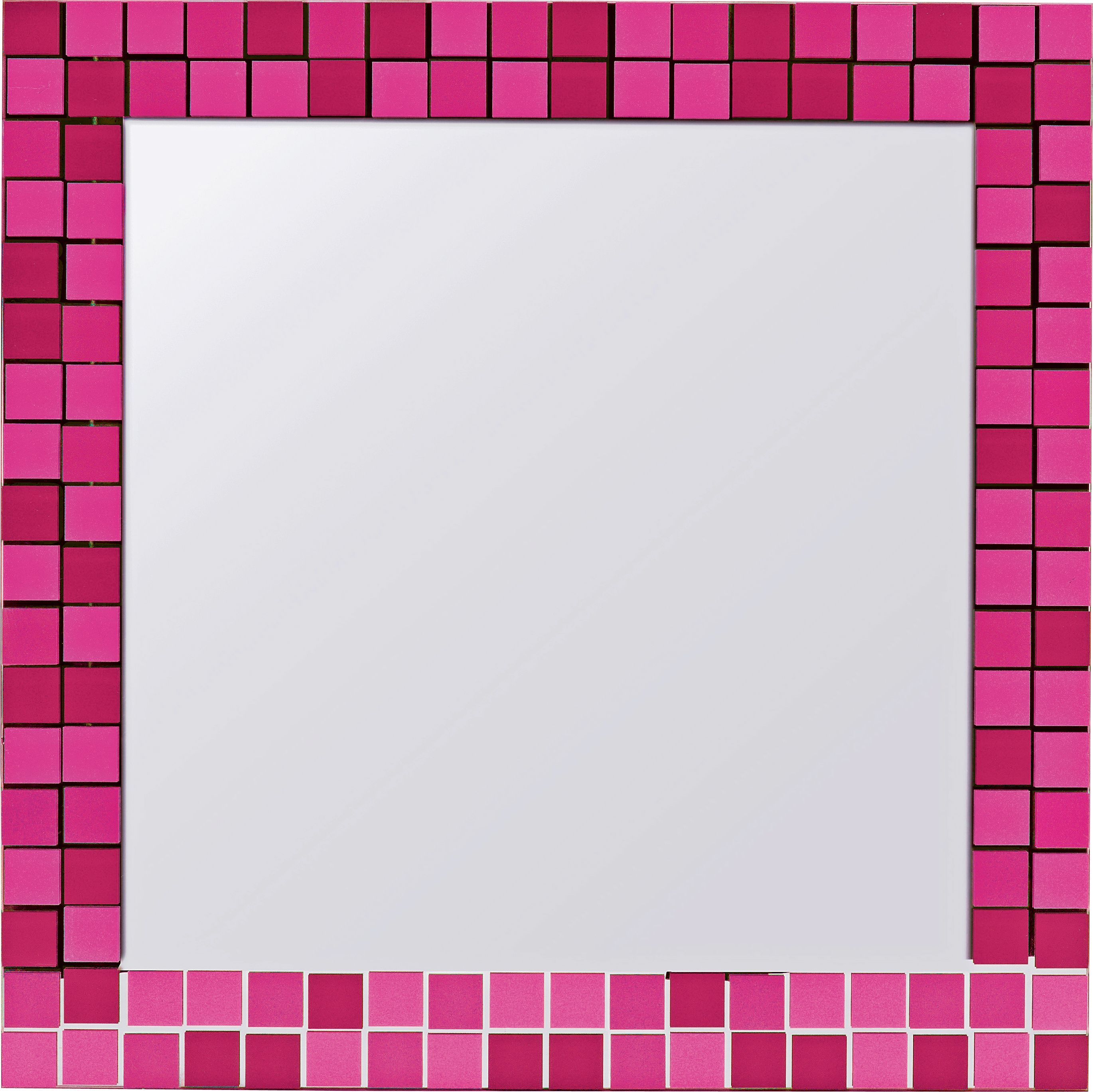 Part of the colour match range, this funky fuschia mirror from Argos ...