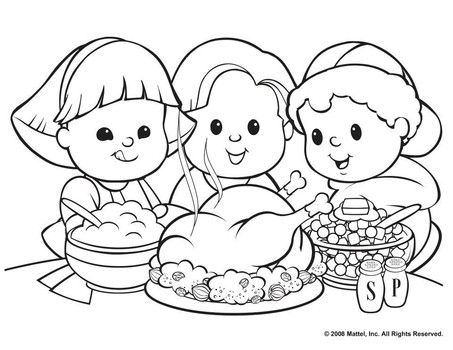 Thanksgiving Dinner Coloring Pages Printables