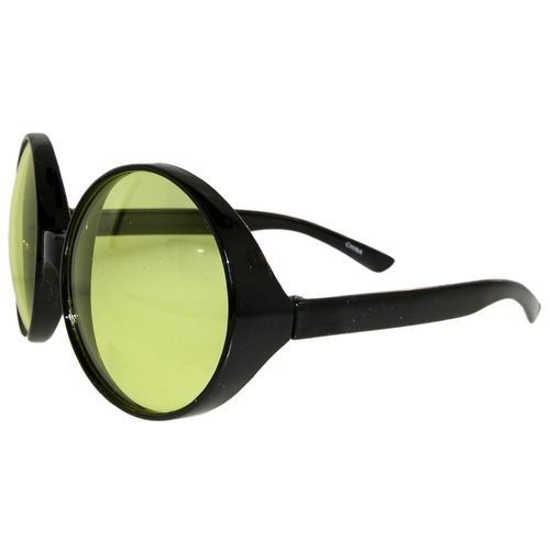 Big Round Glasses, Featured In Teen People! In Black with Yellow Finish $2.99