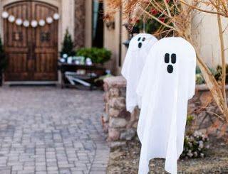 Decoración Para Halloween Fantasmas Colgantes Solountip Com Fantasmas De Halloween Decoraciones De Halloween Al Aire Libre Halloween Al Aire Libre