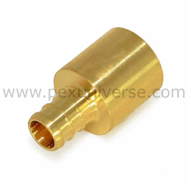 1 2 Pex X 3 4 Copper Fitting Adapter Brass Pex Crimp Fitting Copper Fittings Pex Tubing Fittings