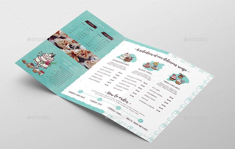 Cake Shop Tri-Fold Brochure Template Informational Pinterest