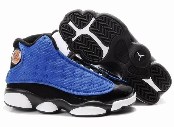 air jordan 13 blue black&white