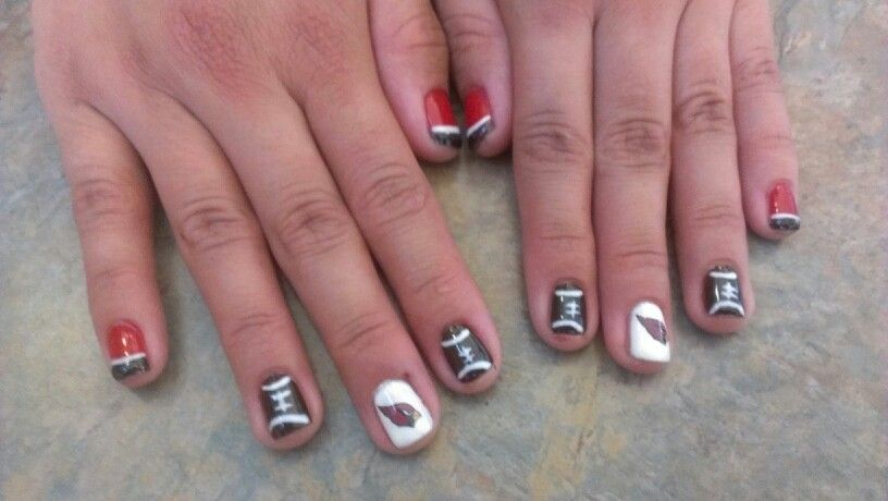 arizona cardinal nails