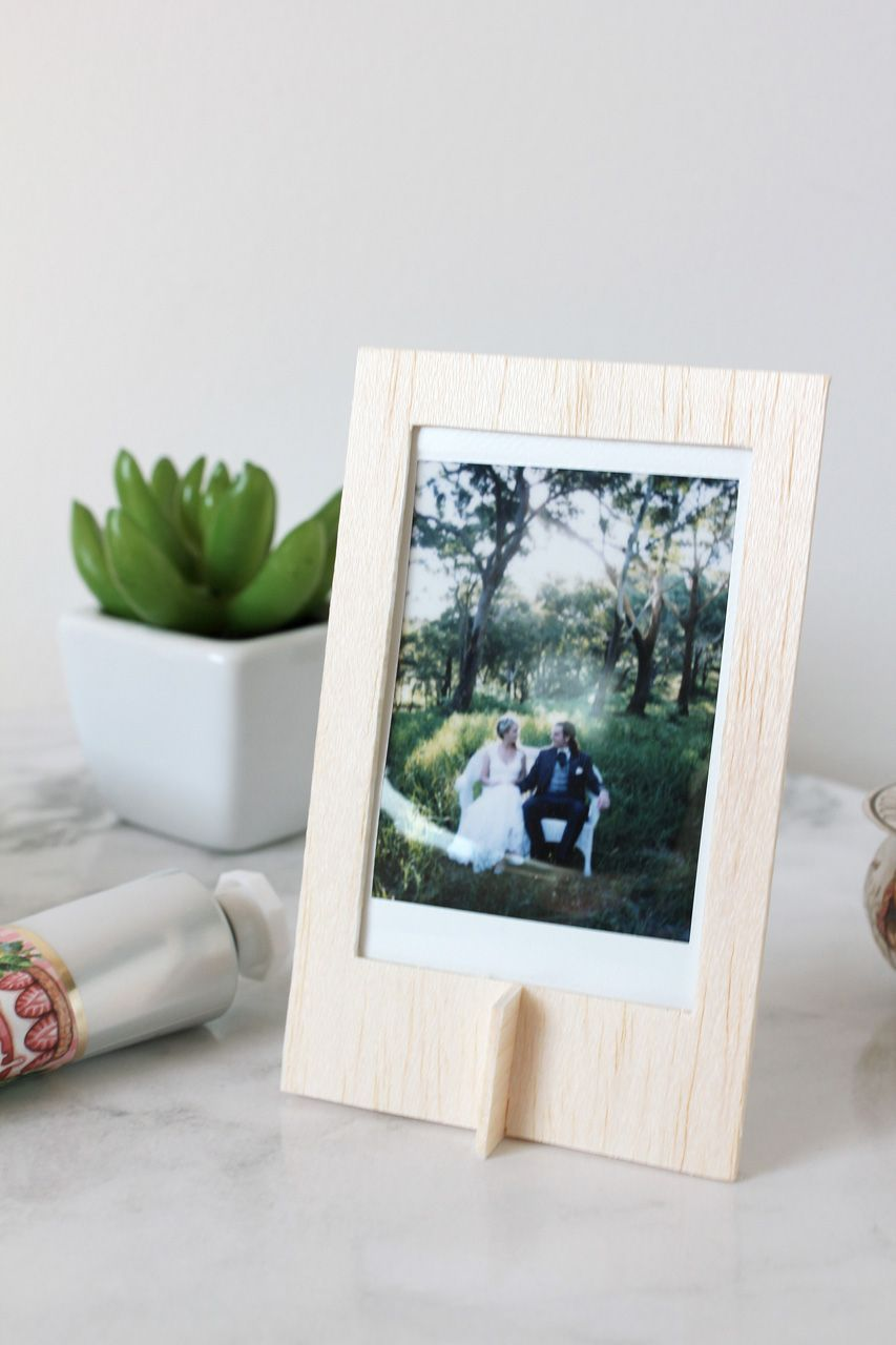 How to make an instax balsa frame instax mini film template and make your own balsa instax frame with this easy tutorial jeuxipadfo Images