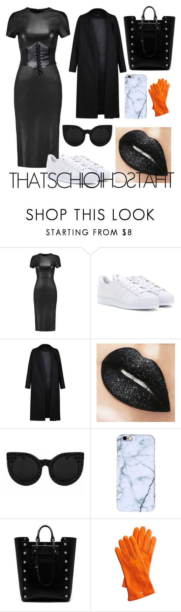 """""""#cozy#chic absolutely sexy"""" by mulababe ❤ liked on Polyvore featuring Iris & Ink, adidas, Non, Delalle, Mulberry and Mark & Graham"""
