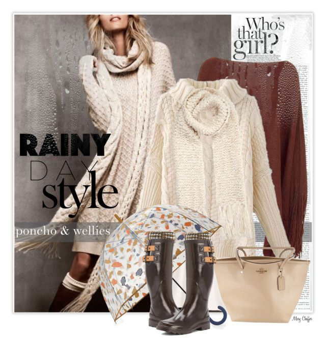 Rainy Day Style by mcheffer on Polyvore featuring Miss Selfridge, Avenue, Chooka, Coach, Accessorize, Hunter, Mercedes-Benz and rainydaystyle