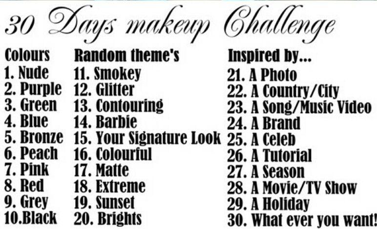 30 Days Makeup Challenges Makeup Challenges Day Makeup Artistry Makeup