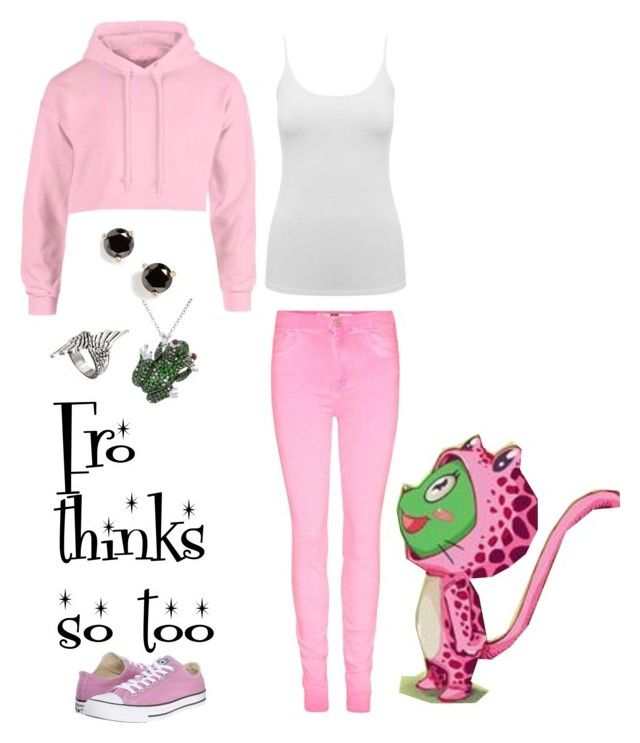 """Fairy Tail: Frosch Girly Clothes"" by lucy-wolf ❤ liked on Polyvore featuring M&Co, Converse, Roberto Coin, Kate Spade, women's clothing, women, female, woman, misses and juniors"