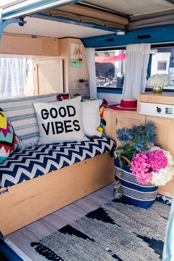 babyblue beach day bus camper pinterest interiors van life