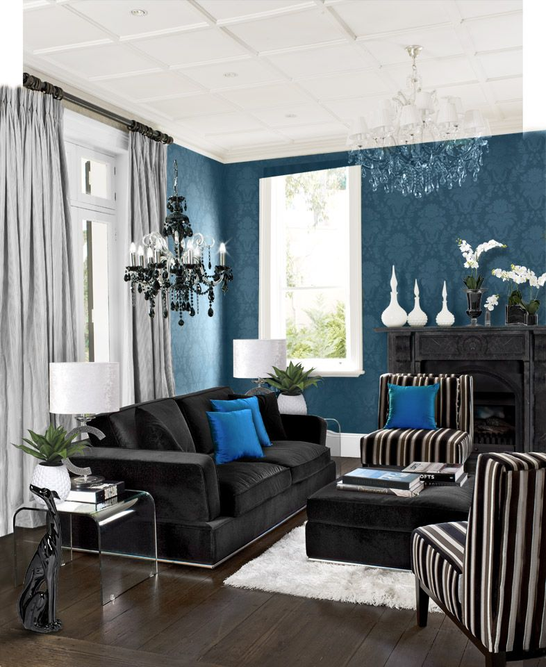 Curtains Black Living Room Blue Living Room Living Room