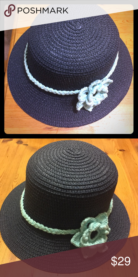 Woman's hat with handmade knitted flower Woman's hat with handmade knitted flower, this hat is going to be special just like YOU. Accessories Hats