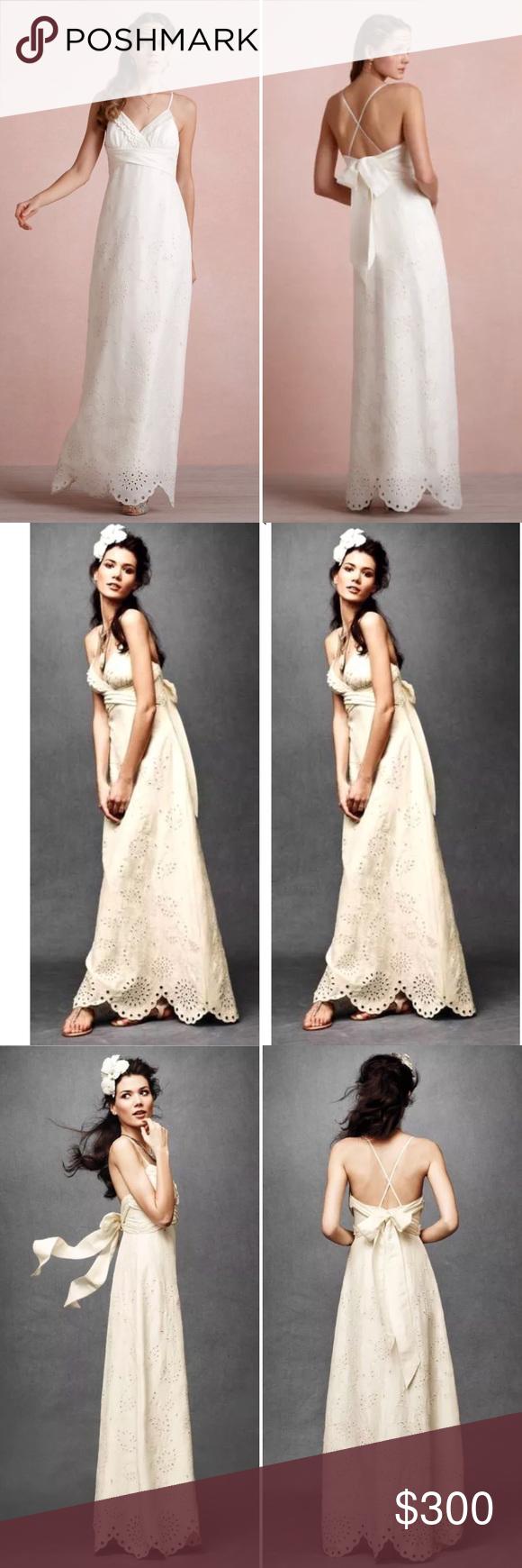 Silk sheath wedding dress  BHLDN Silk Linen Eyelet Medley Sheath Wedding Gown  Sheath wedding