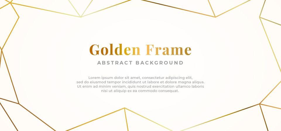 Bingkai Garis Poligonal Sederhana Sederhana Latar Belakang Abstrak Reka Bentuk Kertas Putih Dengan Ilustrasi Vektor Hiasan Bentuk Geometri Ilustrasi Vektor Abstrak Latar Belakang Abstrak