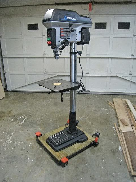 Mobile Base for Floor Standing Drill Press - The Garage