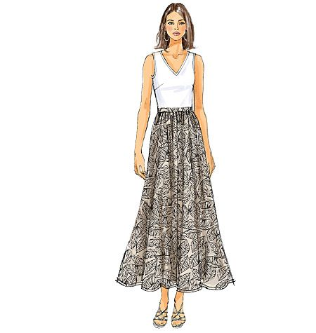 butterick printable maxi skirt pattern b5650 used by