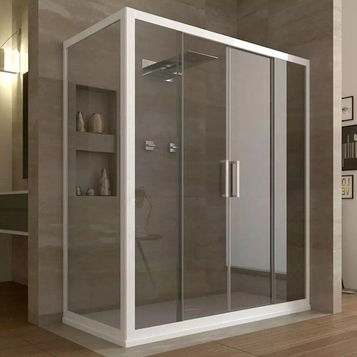 Box doccia angolare 2 ante scorrevoli in cristallo